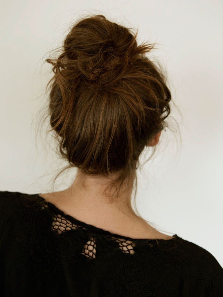 Image result for girl messy bun