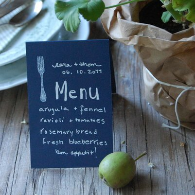 Wedding Menus | A Cup of Jo
