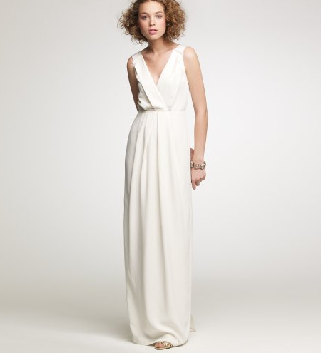 524c3def116 This J.Crew wedding dress looks like something a Grecian statue would wear.  Gorgeous.