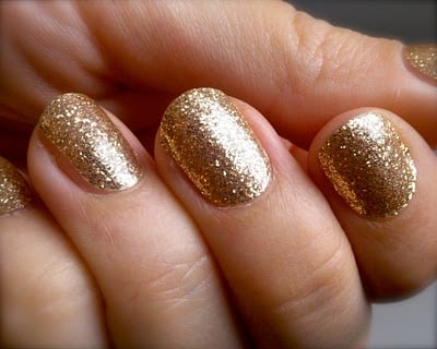 My Friend Leigh Always Has Pretty Nail Polish But Jaw Dropped When I Saw Her Glittery Gold Manicure They Re Actually Sally Hansen Strips