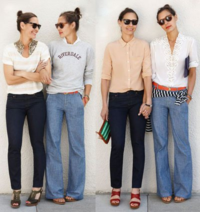 70d2accbf5c How adorable are Madewell s new wide-leg jeans  They look so relaxed and  flattering. Would you wear them
