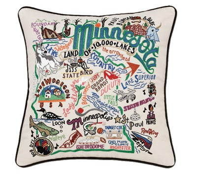 pillow hand pillows embroidered decorative state product