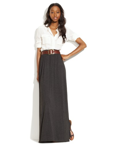 original maxi skirt office outfit free