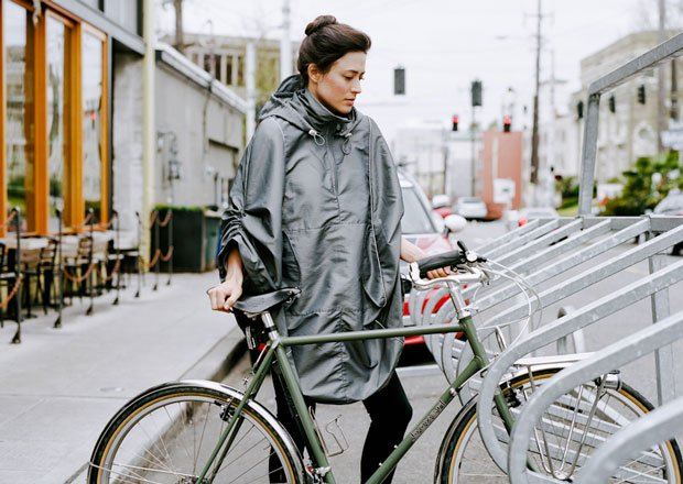 Bike rain cape | A Cup of Jo