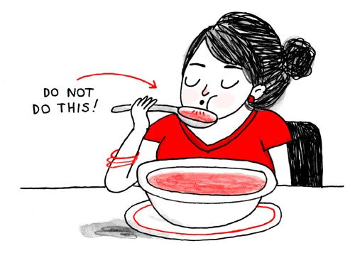 Dinner Etiquette A Cup of Jo : dinner table manners etiquette cupofjo blog soup from cupofjo.com size 500 x 363 jpeg 36kB