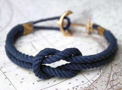 Handcrafted In Rhode Island This Sailing Bracelet Is Made For Both Men And Women To Wear The Anchor Clasp A Sweet Touch Wouldn T You Like It