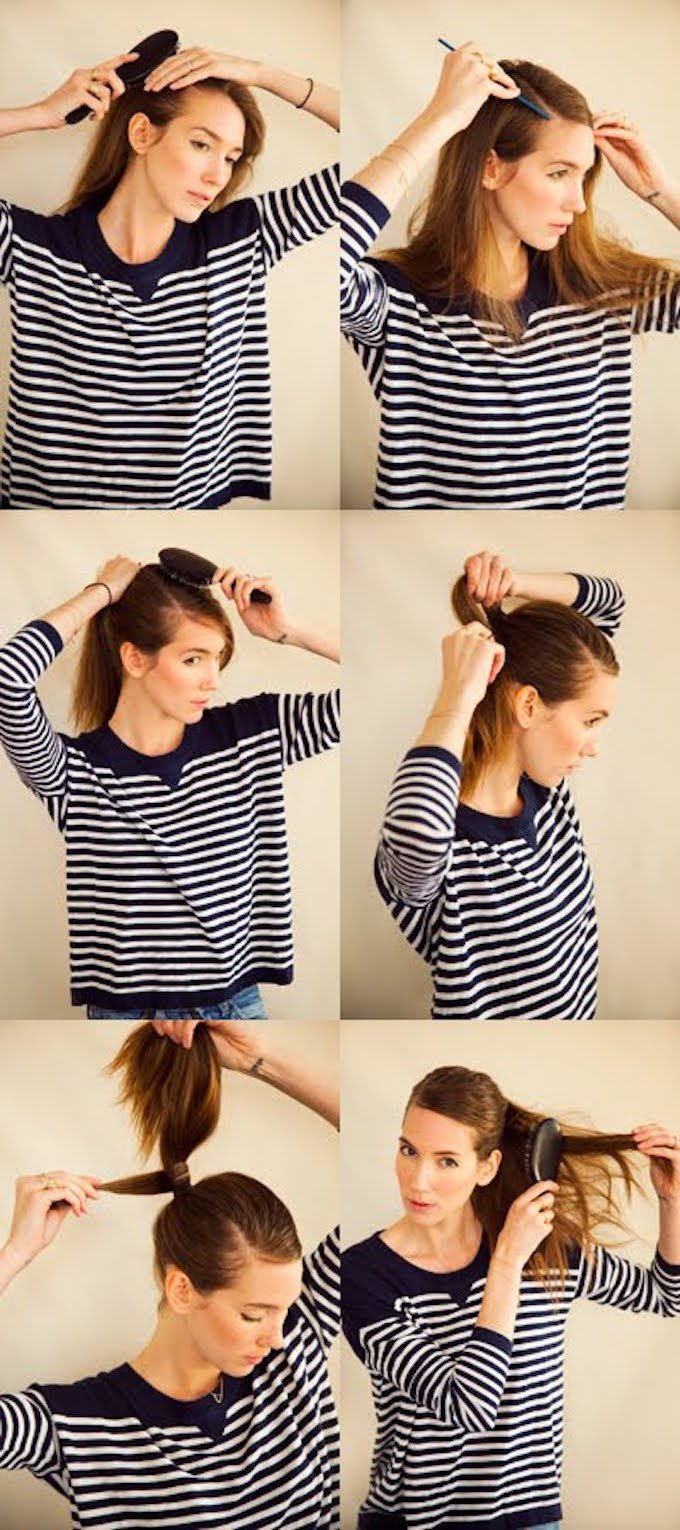 Sleek Parted Ponytail A Cup Of Jo