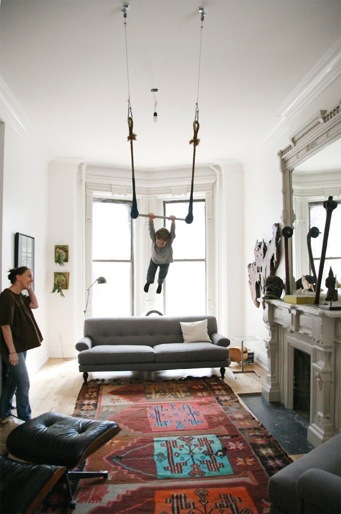 Living room trapeze a cup of jo for Living room brooklyn