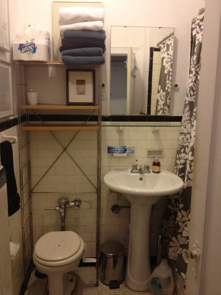 Bathroom Makeovers For Renters our bathroom makeover | a cup of jo