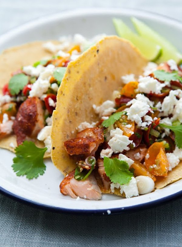 The Best Salmon Tacos You'll Ever Have