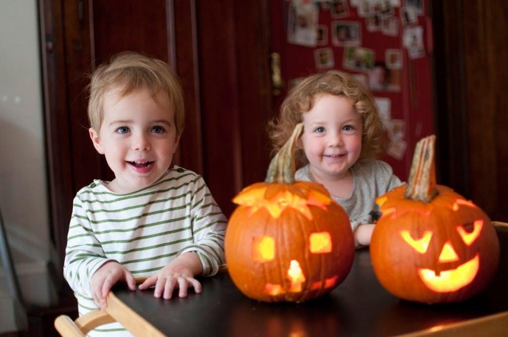 Pumpkin carving a cup of jo