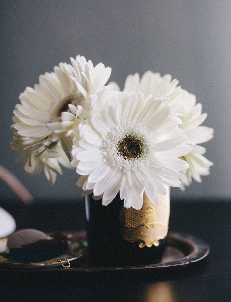 3 ways to arrange supermarket flowers a cup of jo happily my friend kendra smoot a prop stylist agreed to share three beautiful ways to arrange flowers at home gerbera daisies izmirmasajfo Choice Image