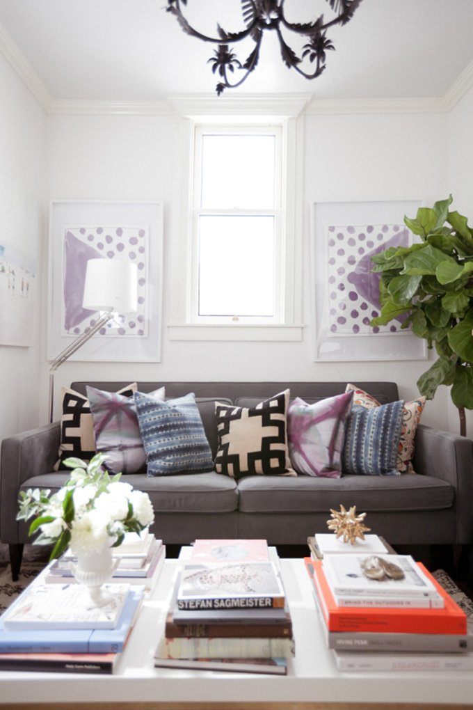 LIVING ROOM: San Francisco Apartment Tour (500 Square Feet!)