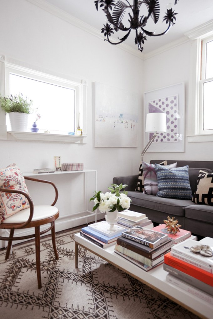 LIVING ROOM: San Francisco Apartment Tour (500 Square Feet!)  Jordan_ferney_apartment_3