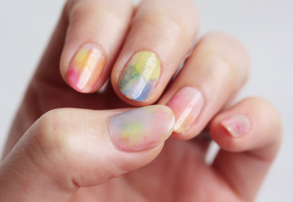 Watercolor Nail Polish | A Cup of Jo