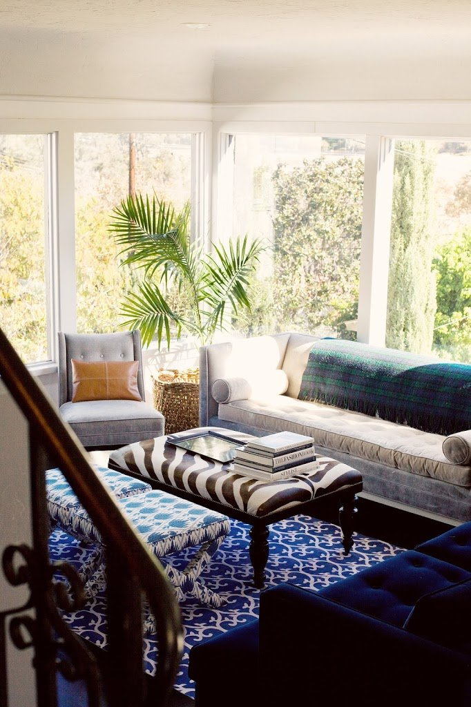 Los angeles home tour a cup of jo for Family room los angeles