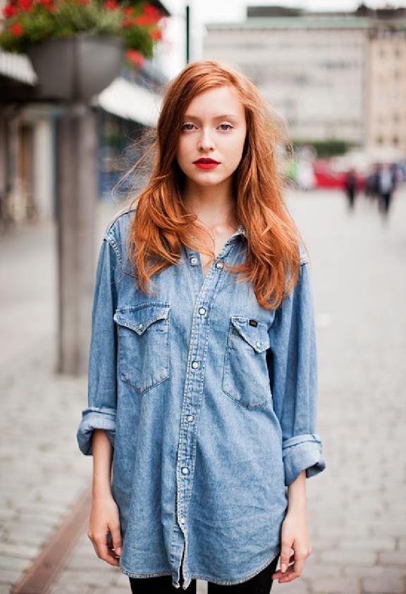 stockholm-street-style-denim-chambray-redhead-