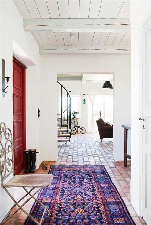 Home Inspiration: Pink and Red Rugs | A Cup of Jo