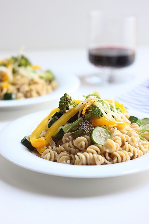 Creamy Pasta With Roasted Vegetables   A Cup of Jo