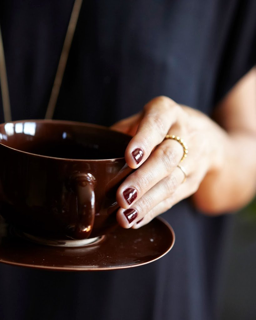 Oxblood Red Nails | A Cup of Jo