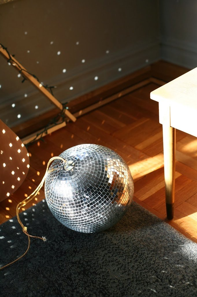 Home Tip Disco Ball A Cup Of Jo - Bedroom disco lights