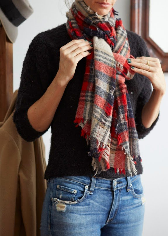 Three Ways To Tie A Scarf A Cup Of Jo