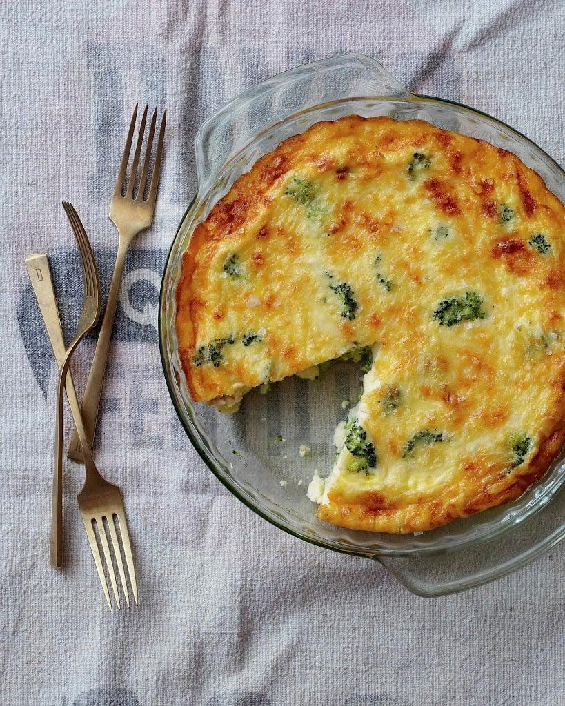 Crustless Broccoli and Cheddar Quiche