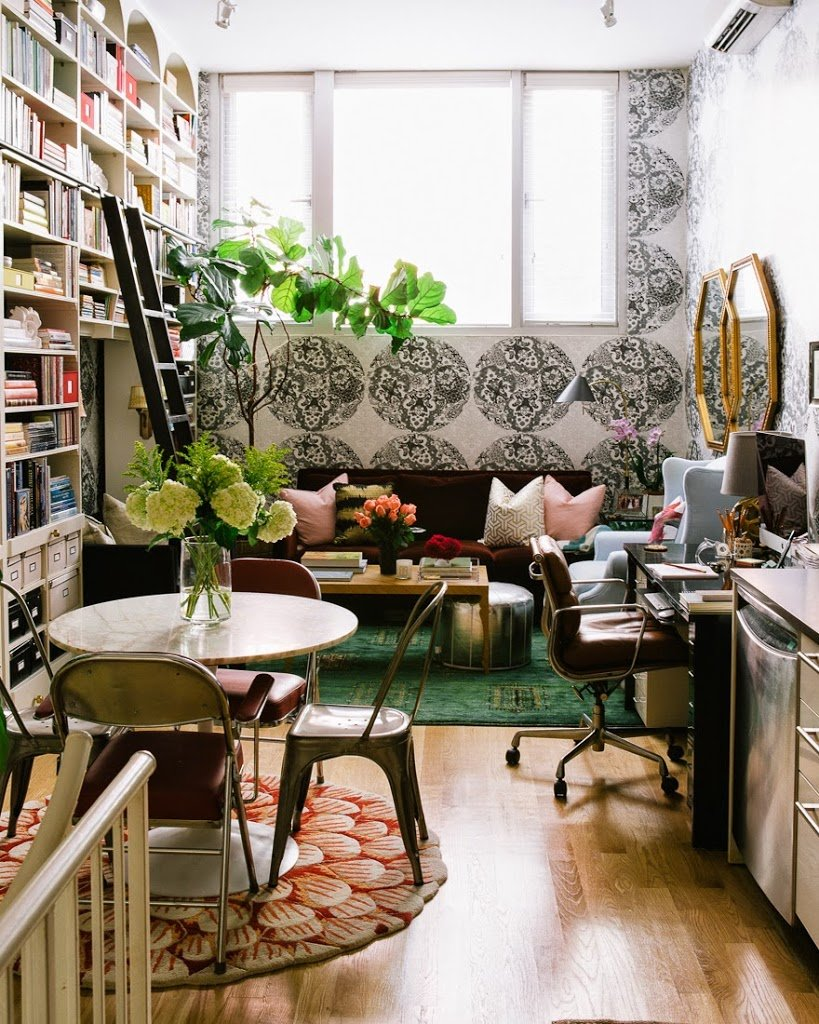 13 brilliant tips for decorating a small space a cup of jo for Design small room interior