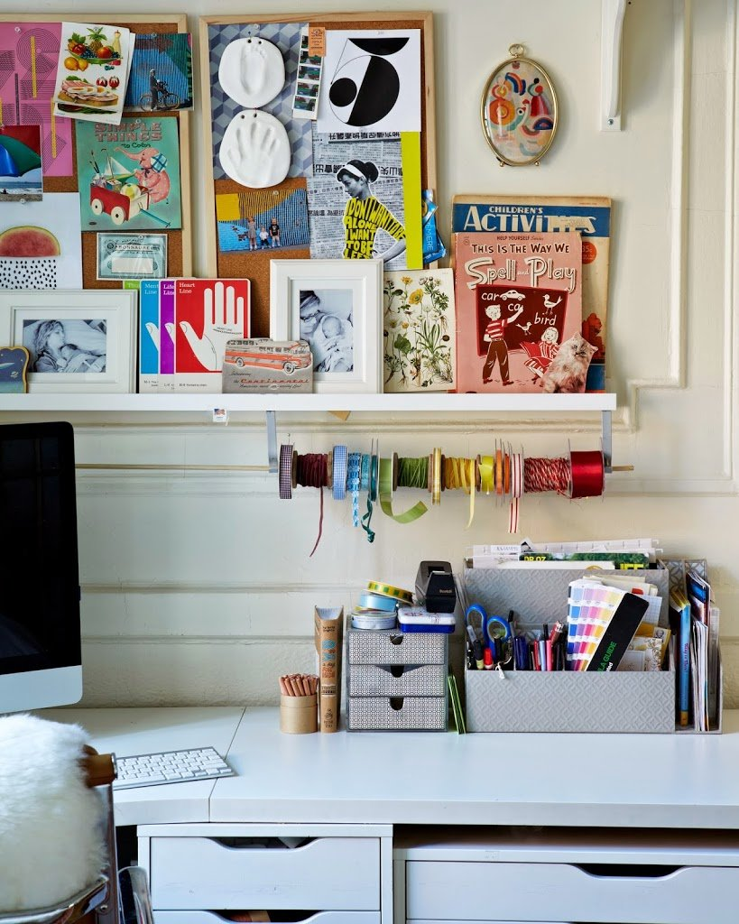 Bedroom office brooklyn apartment tour cupofjo