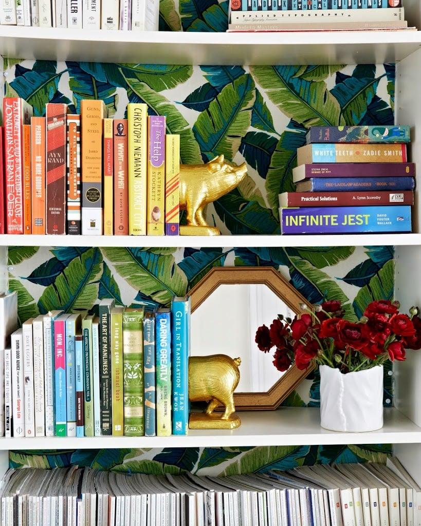 Living room bookshelf inspiration cupofjo