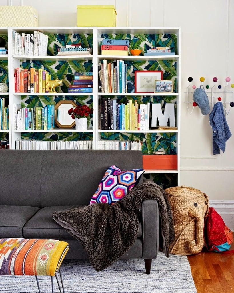 Living room bookshelf inspiration house tour cupofjo
