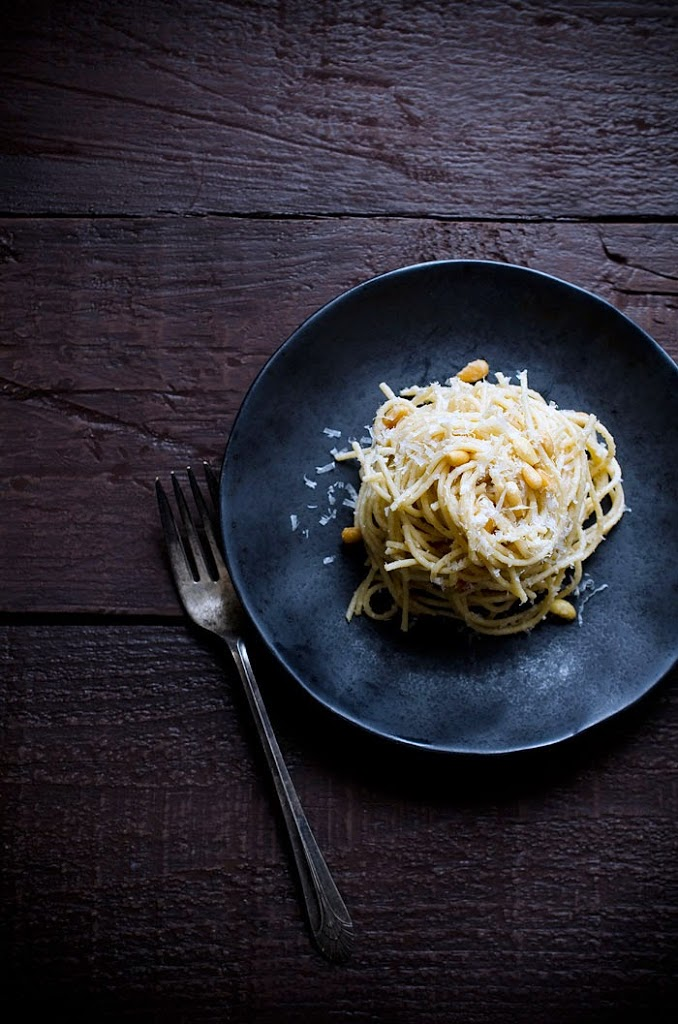 Spaghetti With Parmesan Brown Butter And Pine Nuts By Jennifer Farley Of Savory Simple