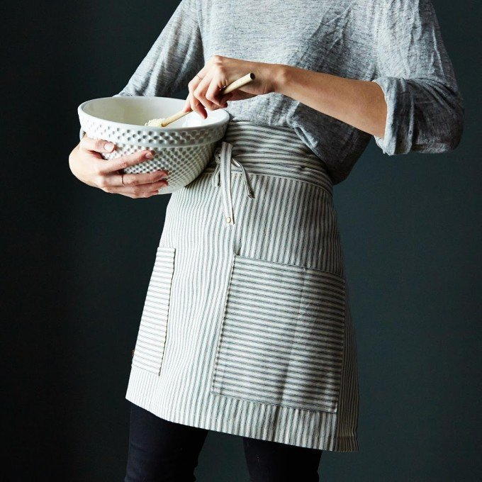 Vermont cotton ticking apron