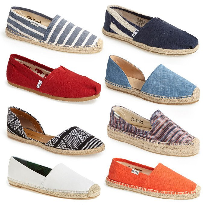 Favorite Summer Shoes | canvas espadrille slides | A Cup of Jo