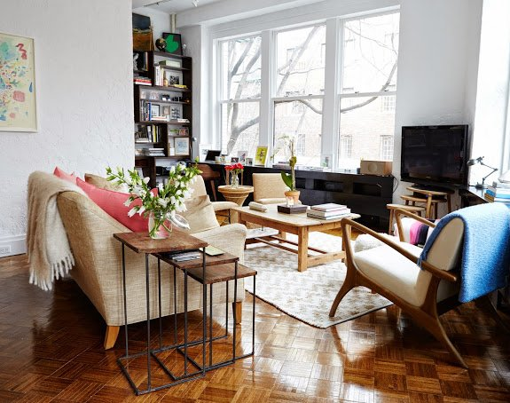 Living Room Ariane Goldman West Village Apartment Tour
