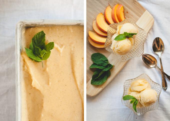 Peach Sauvignon Blanc Sorbet | A Cup of Jo