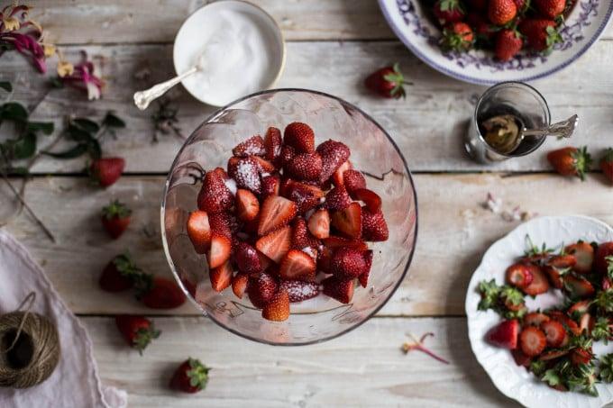 Ricotta Ice Cream with Balsamic Strawberries
