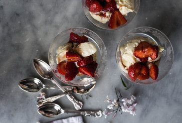 Ricotta Ice Cream with Balsamic Strawberries