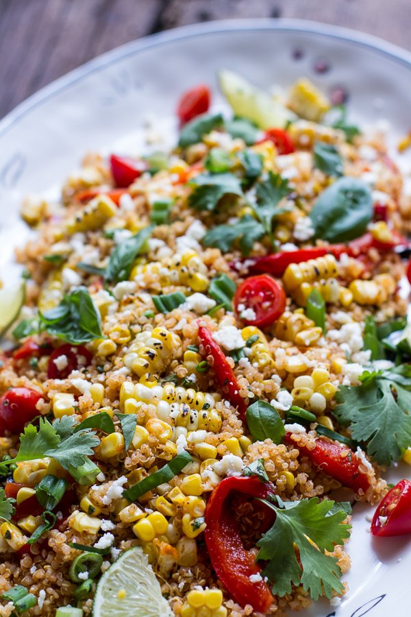 Grilled Corn And Quinoa Salad Recipe — Dishmaps