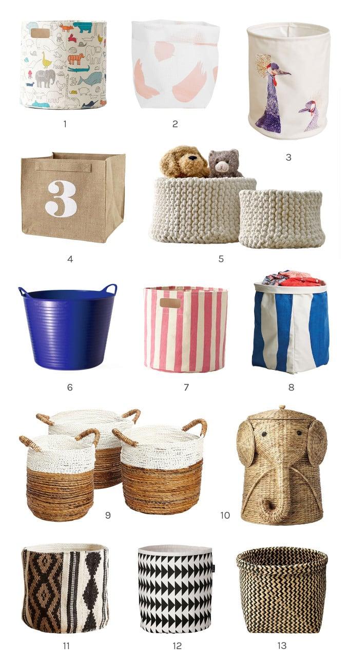 bins and baskets storage for kids