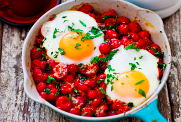 Baked Eggs with Roasted Tomatoes