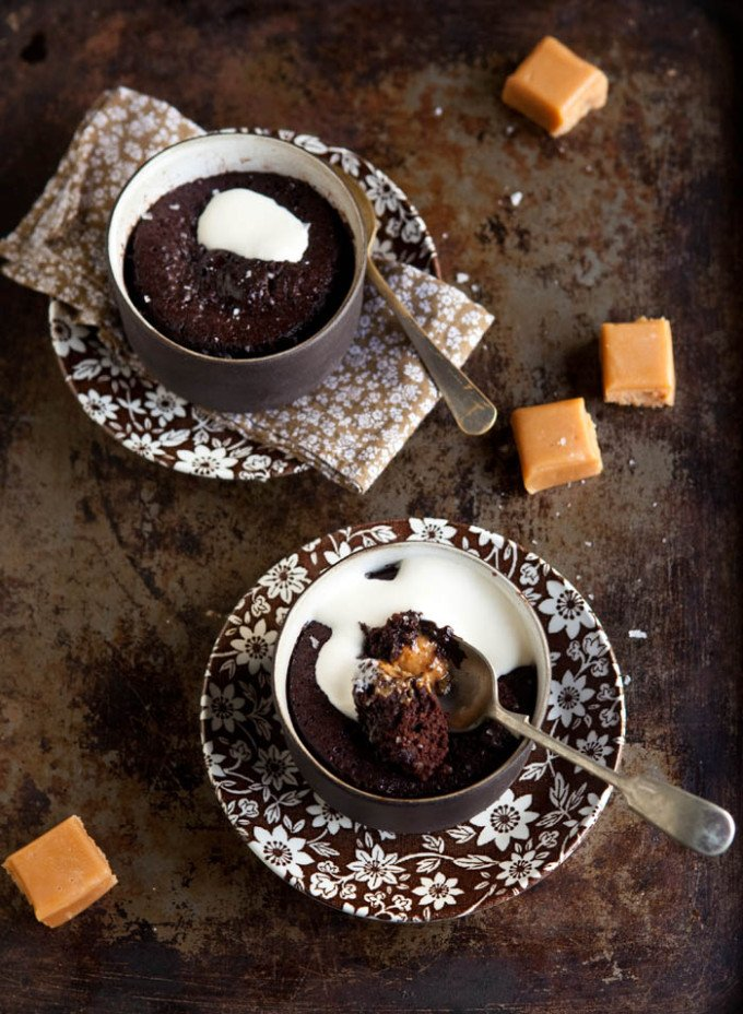 Five-Minute Chocolate Pudding With Salted Caramel