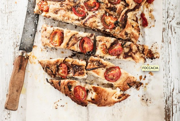 Caramelized Onion and Tomato Focaccia | A Cup of Jo