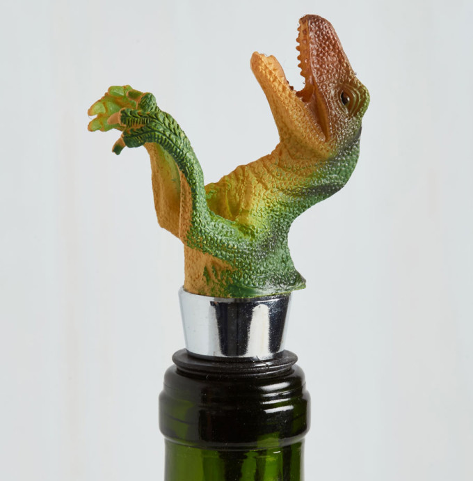 Dinosaur wine bottle stopper