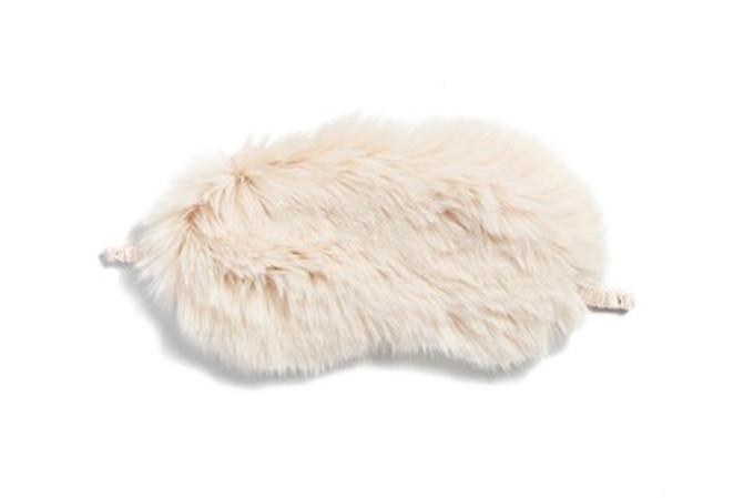 Faux fur sleep mask