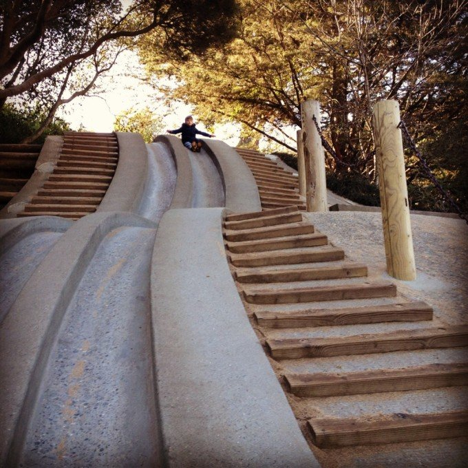 Koret Playground slides, San Francisco