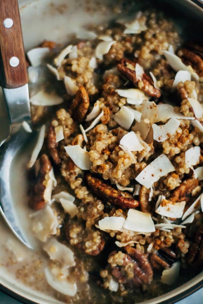 Quinoa With Chai-Spiced Almond Milk