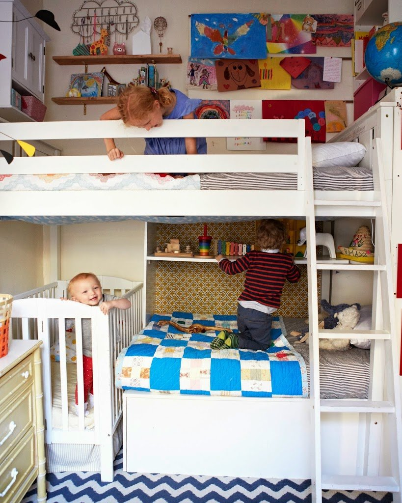 Shared kids rooms a cup of jo - Bedroom ideas for 3 year old boy ...