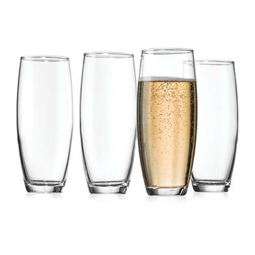 Glass Stemless Flutes