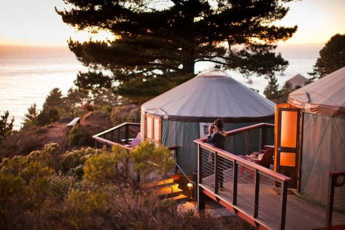 Yurts, Treebones Resort, Big Sur